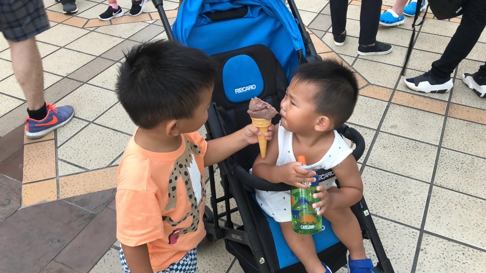圖為筆者的兩個小孩,2018年7月29日於六福村所攝,小孩是社會的希望,希望每一個小孩都能平安、快樂的長大