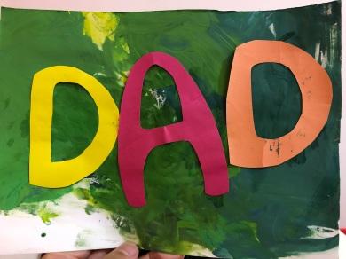 哥哥今年送的父親節卡片